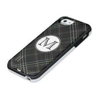 Monogram Black Tartan iPhone SE/5/5s Battery Case