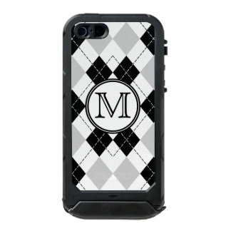 Monogram Black White and Gray Argyle iPhone 5 Case