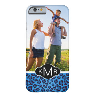 Monogram | Blue Leopard Texture Barely There iPhone 6 Case