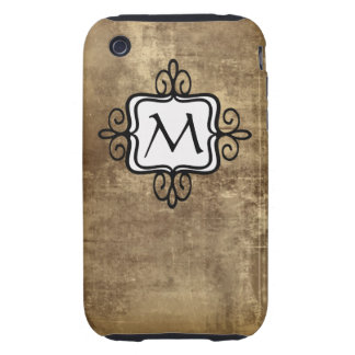 Monogram Brown Vintage iPhone 3 Case-Mates Tough iPhone 3 Cover
