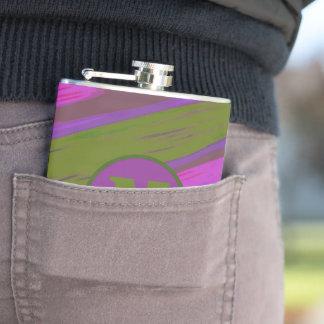 Monogram chartreuse purple Color Swish Hip Flask