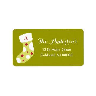 Monogram Christmas Stocking Labels | Holidays