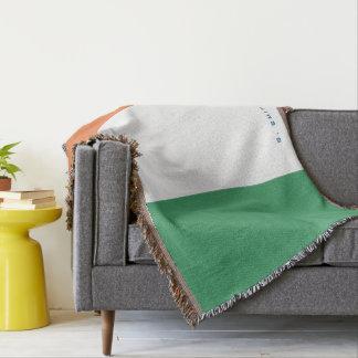 Monogram. Colors of Ireland Flag. Throw Blanket