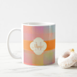 Monogram colourful coffee mug