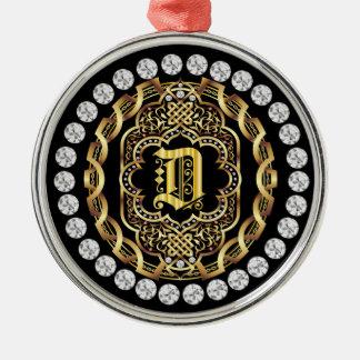 Monogram D IMPORTANT Read About Design Christmas Ornament