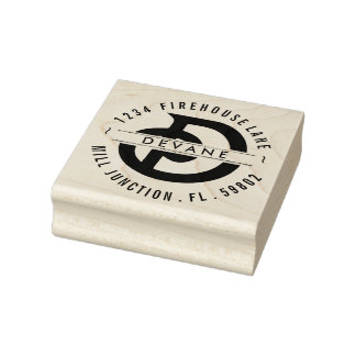 Monogram D Return Address Stamp