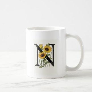 Monogram Daisy N Mug