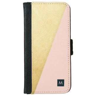 Monogram Diagonal Faux Gold iPhone Case iPhone 6 Wallet Case