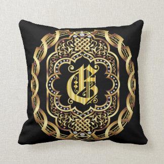 Monogram E IMPORTANT Read About Design Throw Pillow
