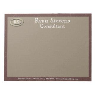 Monogram Elegant Maroon Paper Notepad