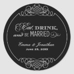 Monogram Favour Sticker   Eat, Drink & Be Married