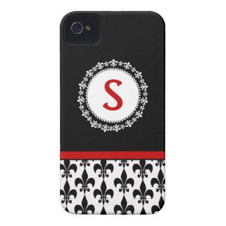 Monogram Fleur de Lis iPhone 4/4S Casemate Case iPhone 4 Case-Mate Cases
