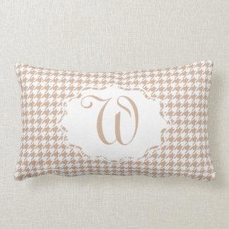 Monogram Houndstooth Lumbar Pillow