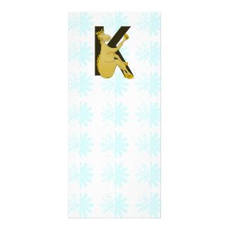 Monogram K Flexible Horse Personalised Rack Card Design
