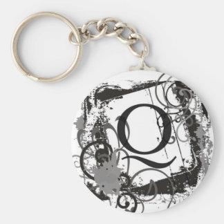 "Monogram Keychain ""Q"""