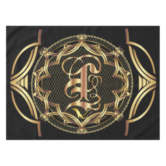 Monogram L CUSTOMIZE To Change Background Color Tablecloth