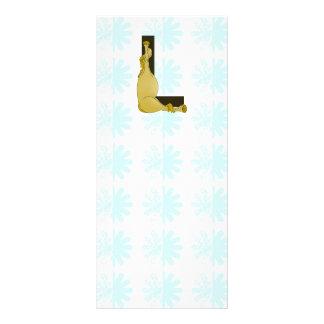 Monogram L Flexible Horse Personalised Rack Card