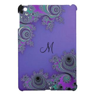 Monogram Lacy Purple Fractal iPad Mini Case