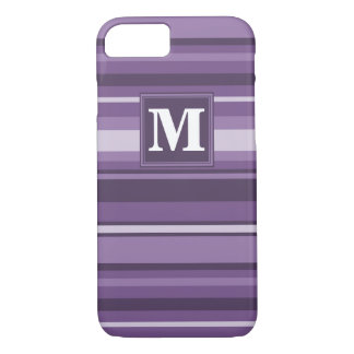 Monogram Lavender stripes iPhone 8/7 Case