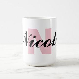 Monogram Letter and Name Basic White Mug
