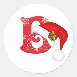 christmas initial santa stickers zazzle co nz
