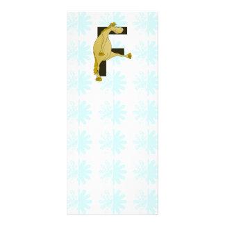 Monogram Letter F Pony Rack Card Design
