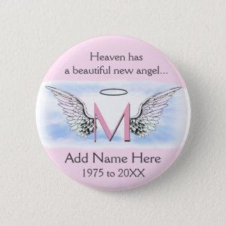 Monogram | Letter M | Add Name | Memorial 6 Cm Round Badge