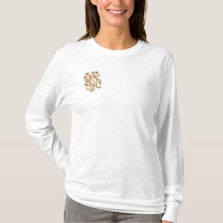 Monogram Letter N Embroidered T-shirt