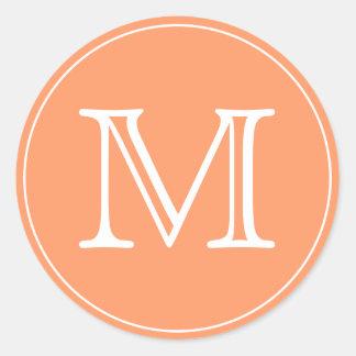Monogram Letter Round Sticker