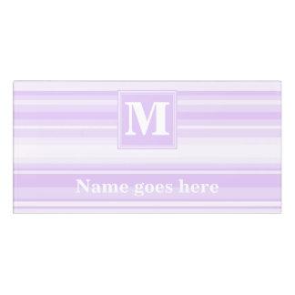 Monogram lilac stripes door sign