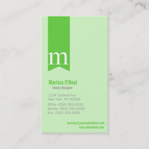 Office m business cards zazzle nz monogram lime green business cards reheart