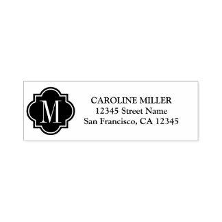 Monogram logo self inking return address stamps