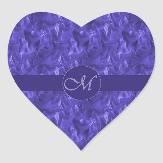 Monogram M Purple Wrinkled Satin Sticker