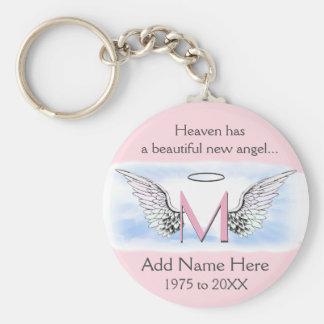 Monogram | Memorial |  Angel Wings Key Ring