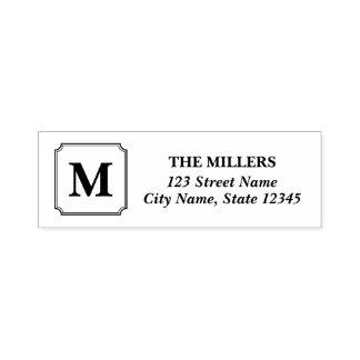 Monogram Modern Classic Family Name Address Self-inking Stamp