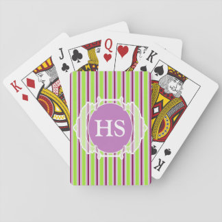 Monogram Moroccan art deco Playing Cards