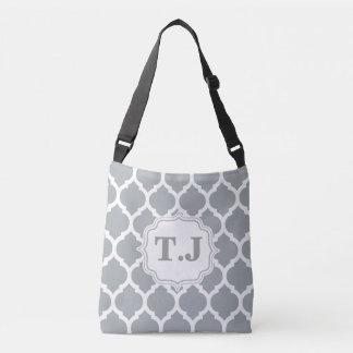 Monogram Moroccan Quatrefoil Pattern Stylish Crossbody Bag