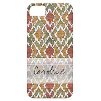 Monogram Multi Color Tribal Ikat Diamond Pattern Case For The iPhone 5
