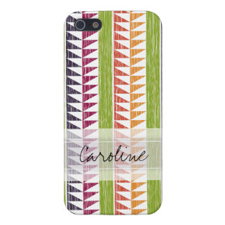 Monogram Multicolor Geometric Ikat Stripes Pattern iPhone 5 Case