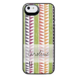 Monogram Multicolor Geometric Ikat Stripes Pattern iPhone SE/5/5s Battery Case