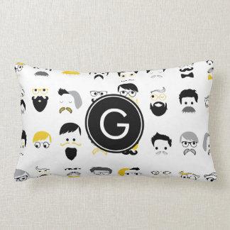Monogram Mustache Cushion