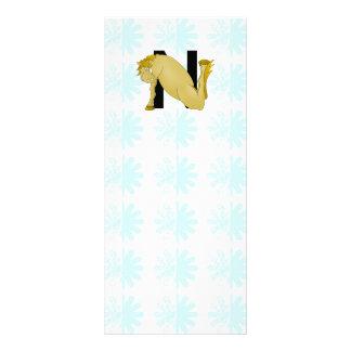 Monogram N Cartoon Horse Personalised Custom Rack Cards