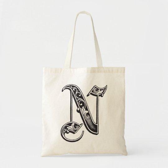 Monogram N tote bag