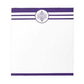 Monogram Nautical Elegant Navy Blue Notepad