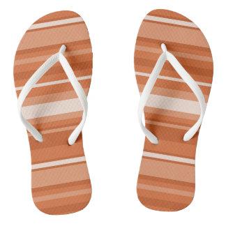 Monogram orange stripes thongs