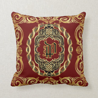 Monogram P Customize Edit Change Background Color Cushion