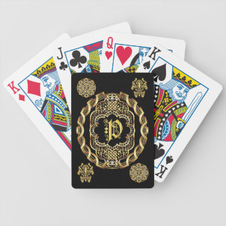 Monogram P IMPORTANT Read About Design Bicycle Playing Cards