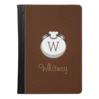 Monogram Panda | Elegant Brown iPad Air Folio iPad Air Case