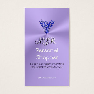 Monogram, Personal Shopper, Phoneix, Blue on Lilac