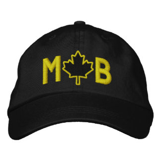 Monogram Personalize Maple Leaf Embroidery Embroidered Cap